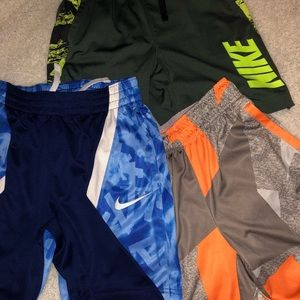 Boys Nike Dri-fit shorts! Three included.